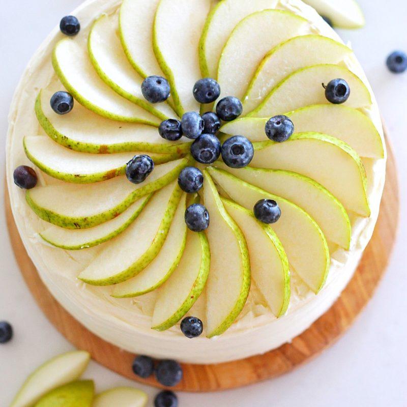 Honey Pear Upside Down Cake | Cake by Courtney