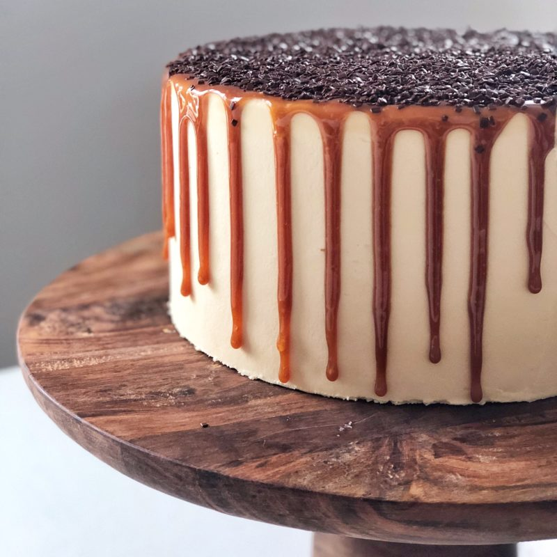 Dark Chocolate Salted Caramel Cake | Cake by Courtney