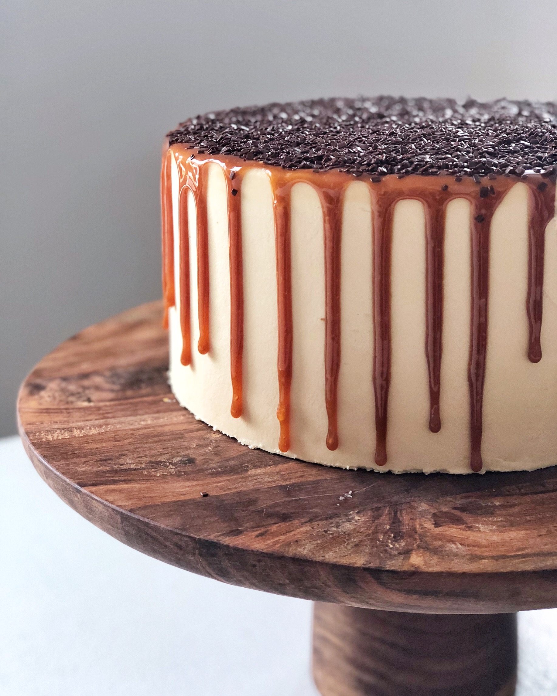cake by courtney dark chocolate salted caramel cake