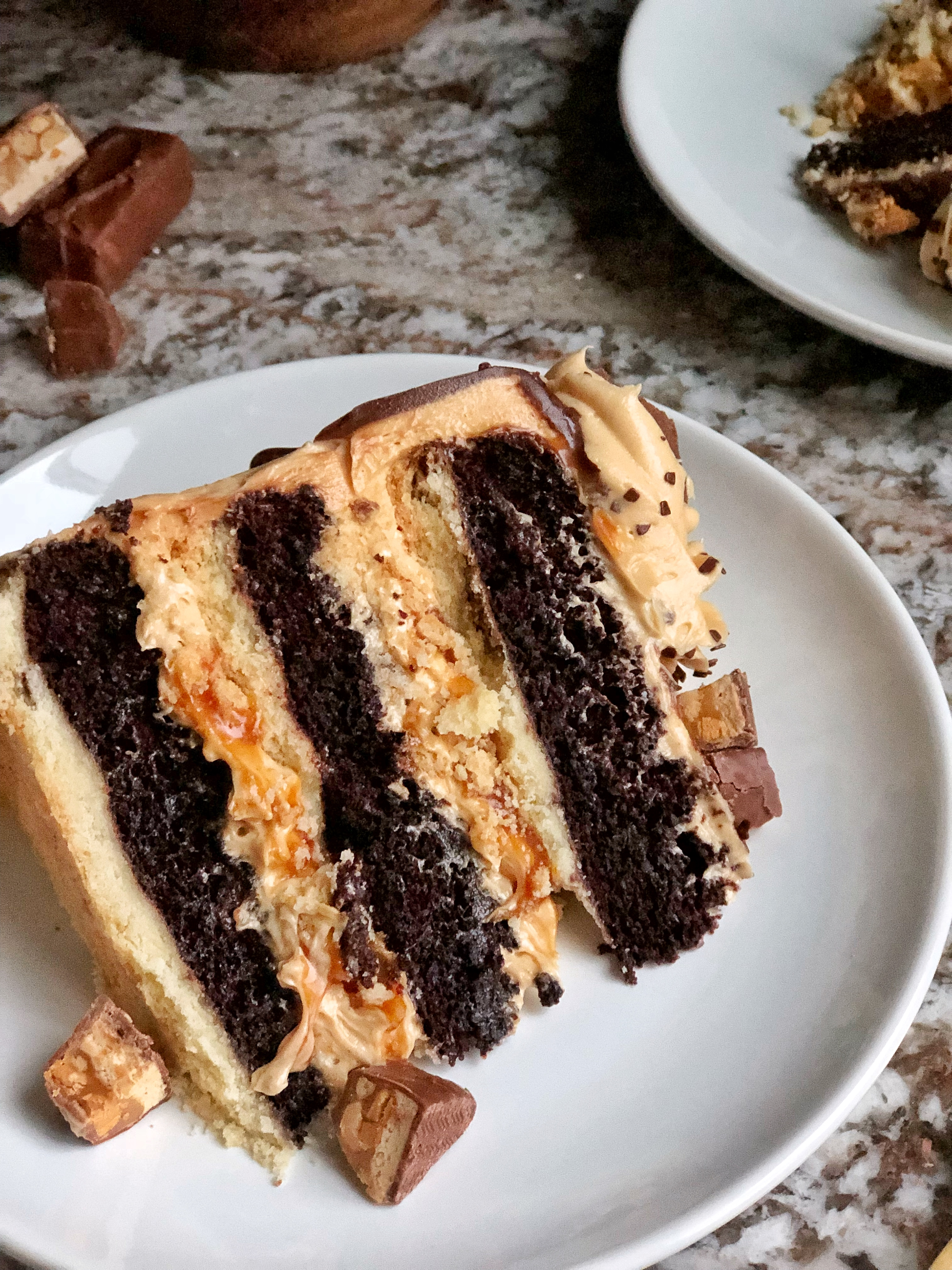 Cake By Courtney Best Ever Snickers Inspired Candy Bar Cake