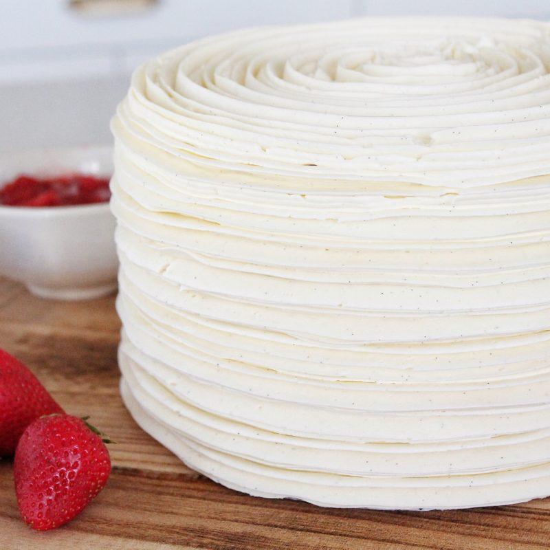Strawberry Rhubarb Crumble Cake | Cake by Courtney