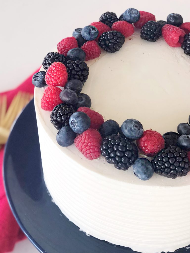 Red, White and Blue Berry Cake | Cake by Courtney