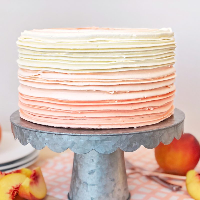 Peaches and Cream Cake | Cake by Courtney