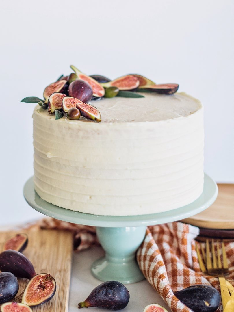 Sweet and Savory Honey Fig Goat Cheese Cake