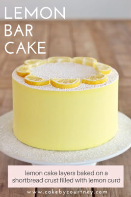 Lemon Bar Cake www.CakeByCourtney.com
