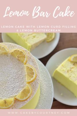Lemon Bar Cake: Lemon cake with lemon curd filling and lemon buttercream www.CakeByCourtney.com