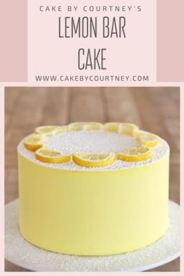 Cake By Courtney's Lemon Bar Cake www.CakeByCourtney.com