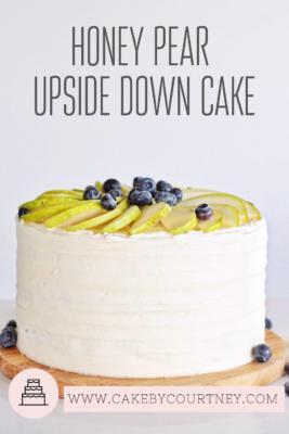 Honey Pear Upside Down Cake from Cake By Courtney www.cakebycourtney.com
