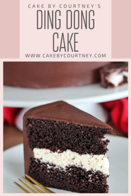 Ding Dong Cake- your favorite snack food turned into a cake! www.CakeByCourtney.com