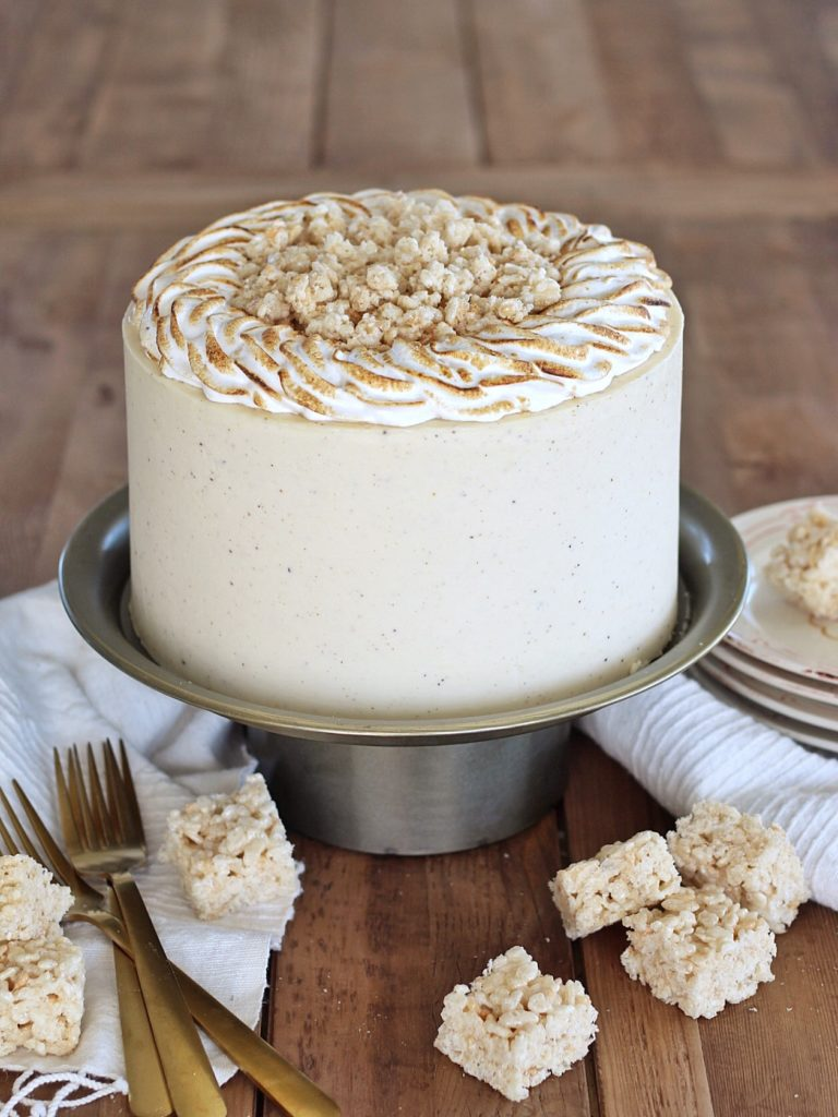 Brown Butter Rice Krispie Treat Cake | Cake by Courtney