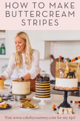 How to make buttercream stripes from Cake By Courtney www.cakebycourtney.com