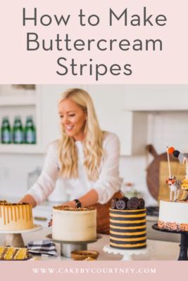 How to Make Buttercream Stripes www.cakebycourtney.com