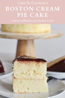 Cake By Courtney's Boston Cream Pie Cake www.cakebycourtney.com