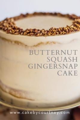 Butternut Squash Gingersnap Cake from Cake By Courtney www.cakebycourtney.com