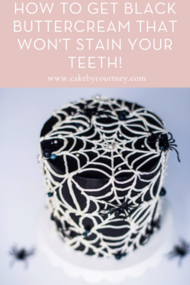 How to get black buttercream that won't stain your teeth! www.cakebycourtney.com