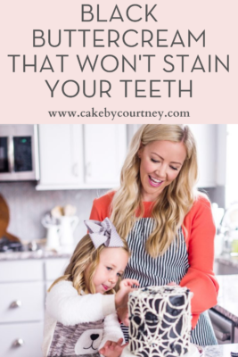 Black Buttercream that won't stain your teeth from Cake By Courtney www.cakebycourtney.com