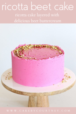 Ricotta Beet Cake with ricotta cake layers and beet buttercream www.cakebycourtney.com