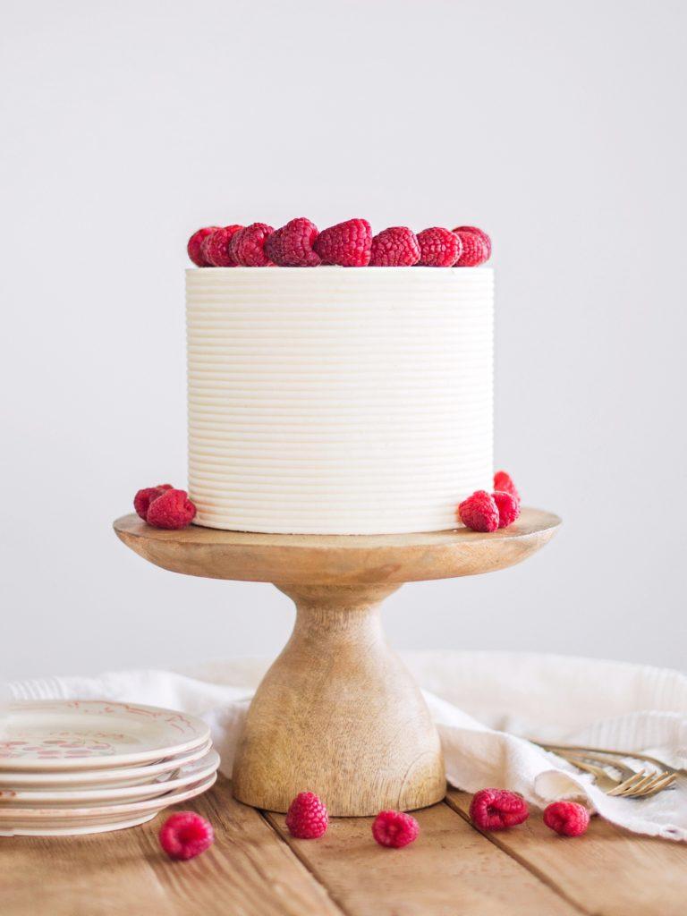 Chai White Chocolate Raspberry Cake | Cake by Courtney