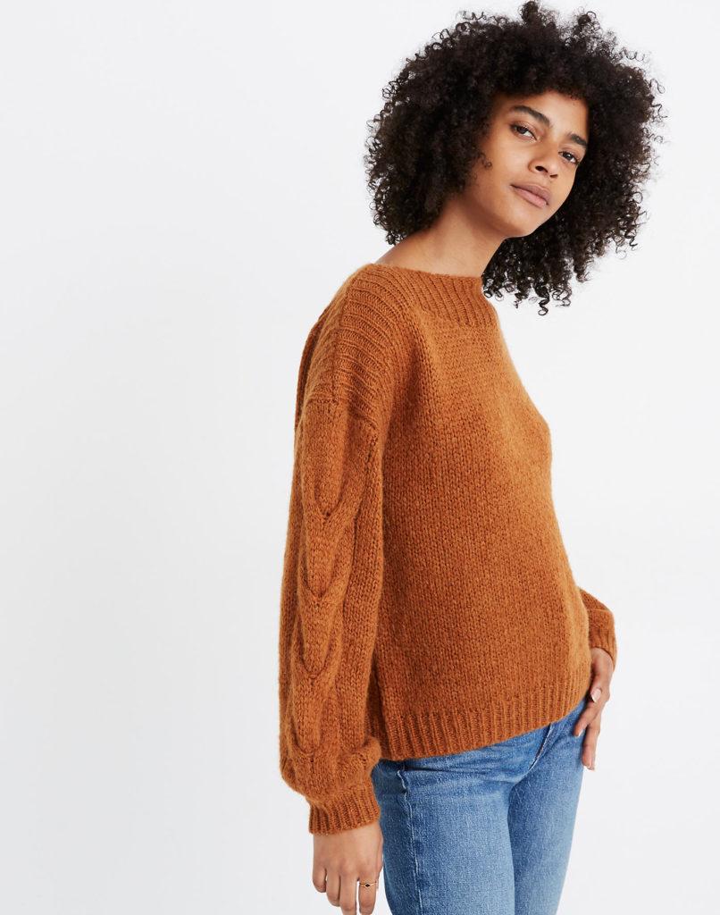 warm knit sweater
