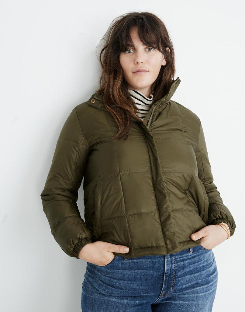 Puffy Army Green Jacket