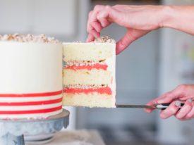 White Chocolate Peppermint Pretzel Cake #peppermintcake #christmascake #holidaycake #cakebycourtney
