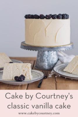 Cake by Courtney's classic vanilla cake. www.cakebycourtney.com