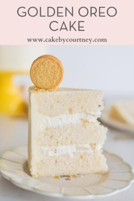 Golden Oreo Cake from Cake by Courtney www.cakebycourtney.com
