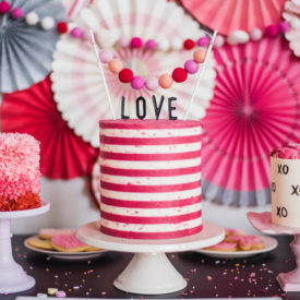 Pretty pink cakes perfect to celebrate love and any other holiday!
