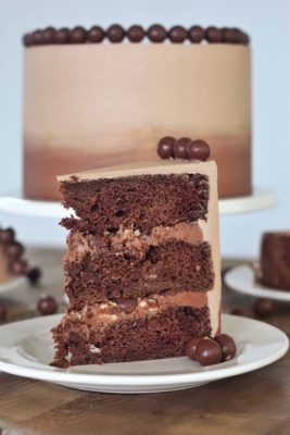 Chocolate Malt Cake #cakebycourtney #chocolatemaltcake #malt #maltcake #easycakerecipe #cake #buttercream #maltbuttercream