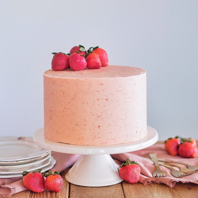 The Perfect Strawberry Shortcake Cake By Courtney
