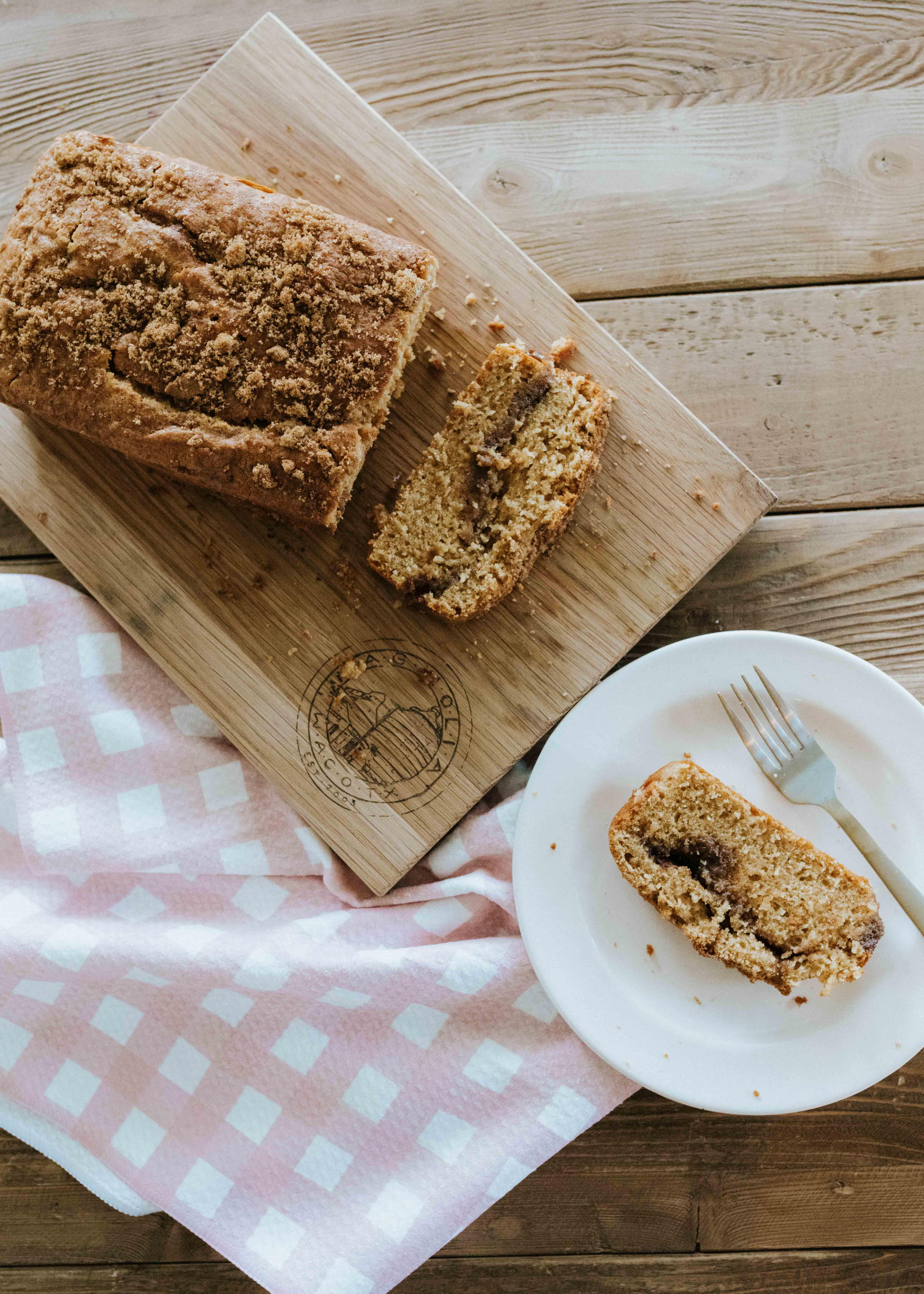 Cinnamon Swirl Breakfast Loaf: moist and flavorful cinnamon bread with a swirl of cinnamon sugar. #cakebycourtney #cake #breakfastcake #breadrecipe #cinnamonbreadrecipe #cinnamonbread #bread #loaf