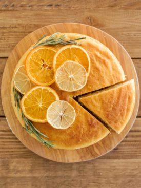 Citrus Olive Oil Cake - tender and moist ricotta olive oil cake layers with lemon and orange zests. #holidaycake #oliveoilcake #holidaycakerecipes #christmascake #bestchristmascakes #bestchristmasdesserts #holidaydessertideas #christmascakeideas #christmascakerecipe #oliveoilcakerecipe
