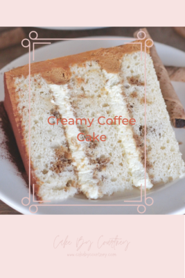 Creamy and delicious coffee cake