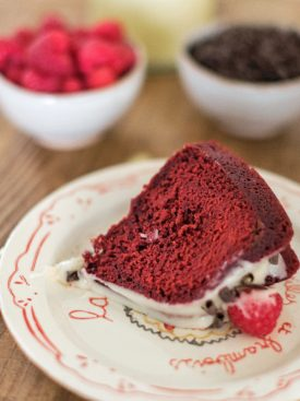 The most delicious red velvet bundt with a cream cheese icing. #redvelvetcake #redvelvetbundtcake #valentinesdaycake #valentinesdessert #valentinesrecipe #redvelvet #cakebycourtney
