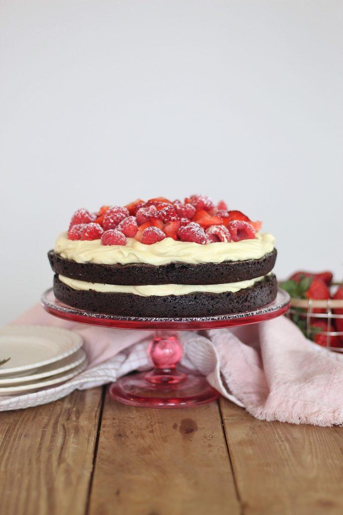 Brownie Berry Torte | Cake by Courtney