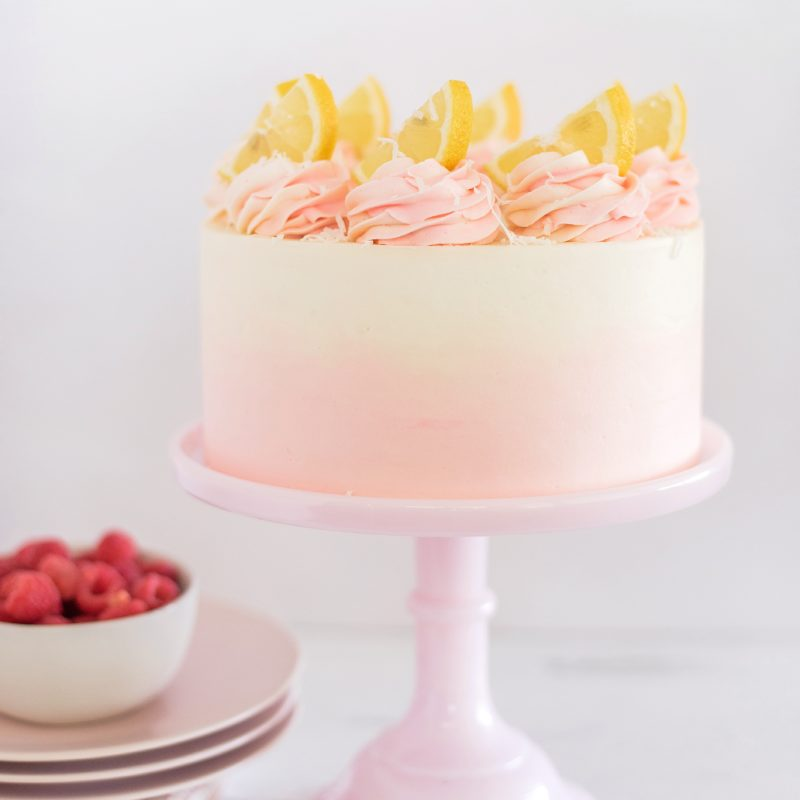 Coconut Lemon Raspberry Cake   Cake by Courtney