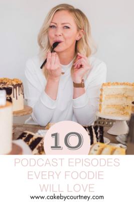10 Podcast Episodes Every Foodie Will Love www.cakebycourtney.com