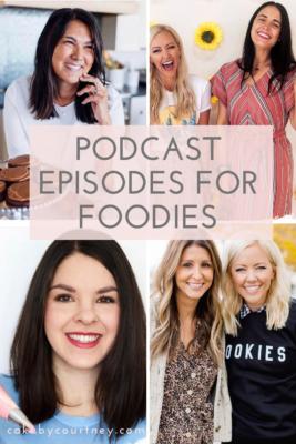 Podcast episodes for foodies www.cakebycourtney.com