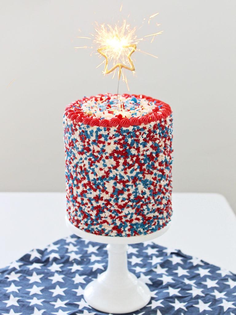 Patriotic Funfetti Cake