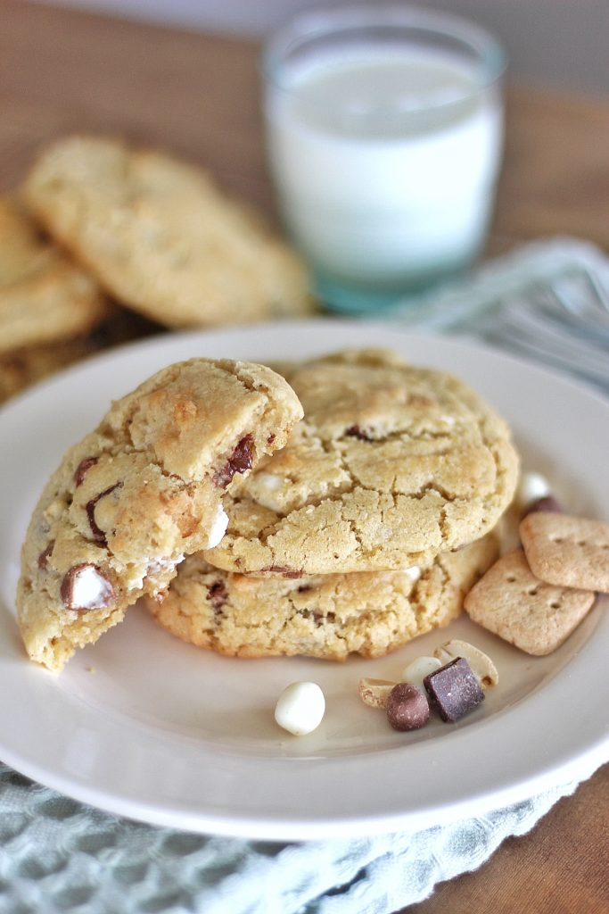 Brown Butter S'mores Cookies | Cake by Courtney