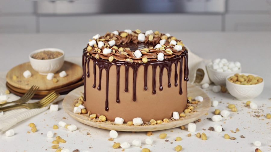 Ice Cream Inspired Rocky Road Cake