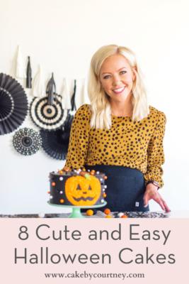 how to do easy halloween cake decorations. www.cakebycourtney.com