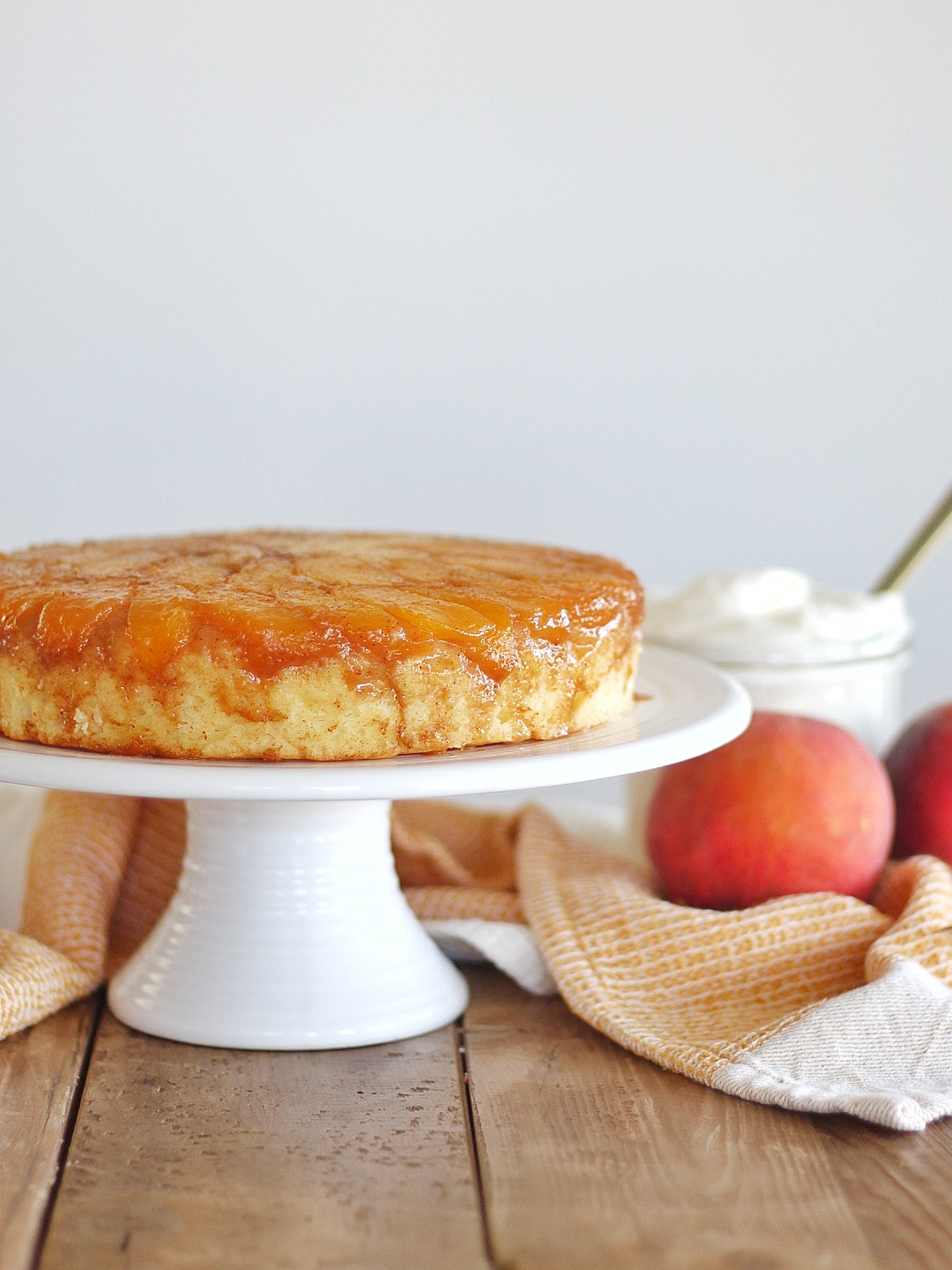 Wrap up summer with this delicious Peach Upside Down Cake.