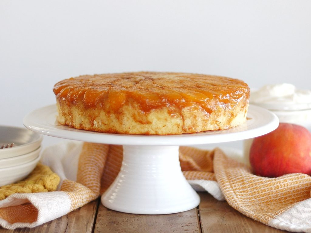Easy to Make Summer-Inspired Peach Upside Down Cake | Cake by Courtney
