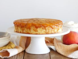 Learn how to make the most delicious peach upside down cake