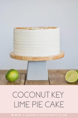 how to bake a key lime pie as cake. www.cakebycourtney.com