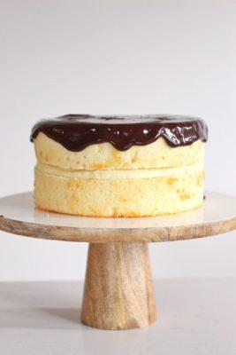 why this cake is better than the original boston cream pie dessert. www.cakebycourtney.com