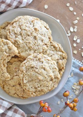 Toasted Oatmeal Brown Butter Toffee Cookies