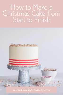 tips and tricks to baking and decorating christmas cakes. www.cakebycourtney.com
