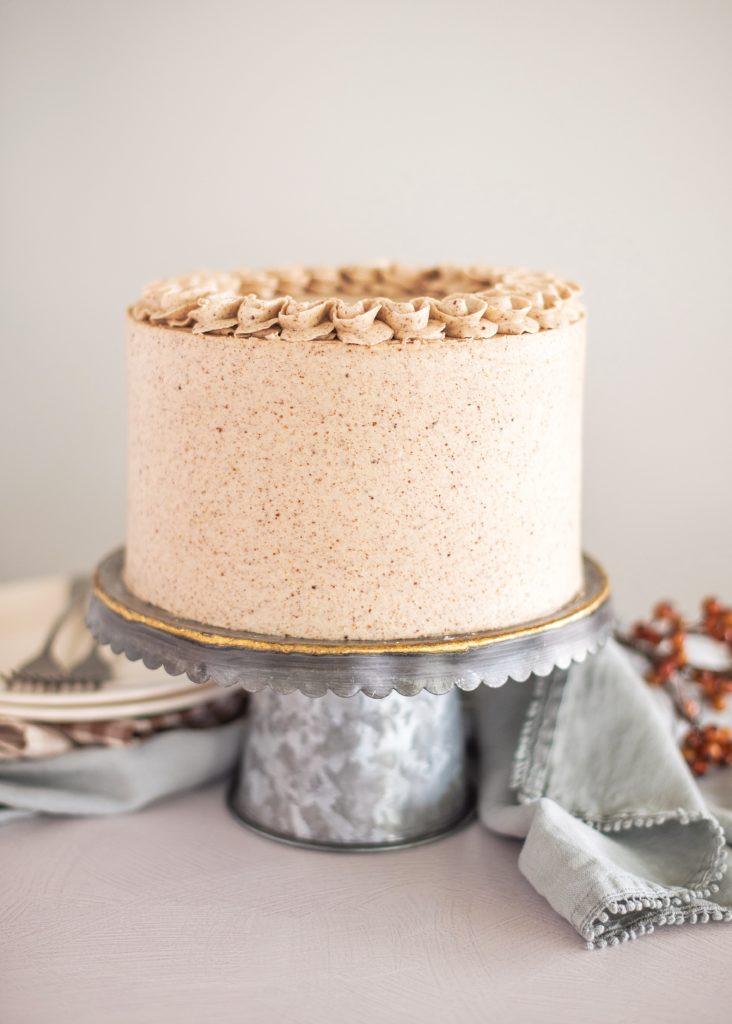 Pumpkin Butter Pecan Cake (a.k.a. your new favorite pumpkin cake recipe) | Cake by Courtney